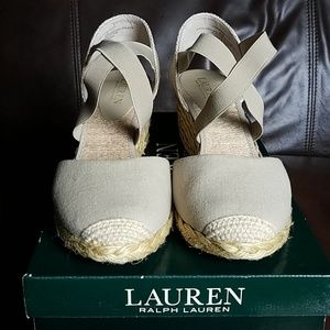 Ralph Lauren Shoes - EUC Ralph Lauren Casandra Wedges Womens 8.5